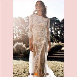 👰🏻HP💐SM thru 2XL⭐️Elegant Lace Wedding Dress